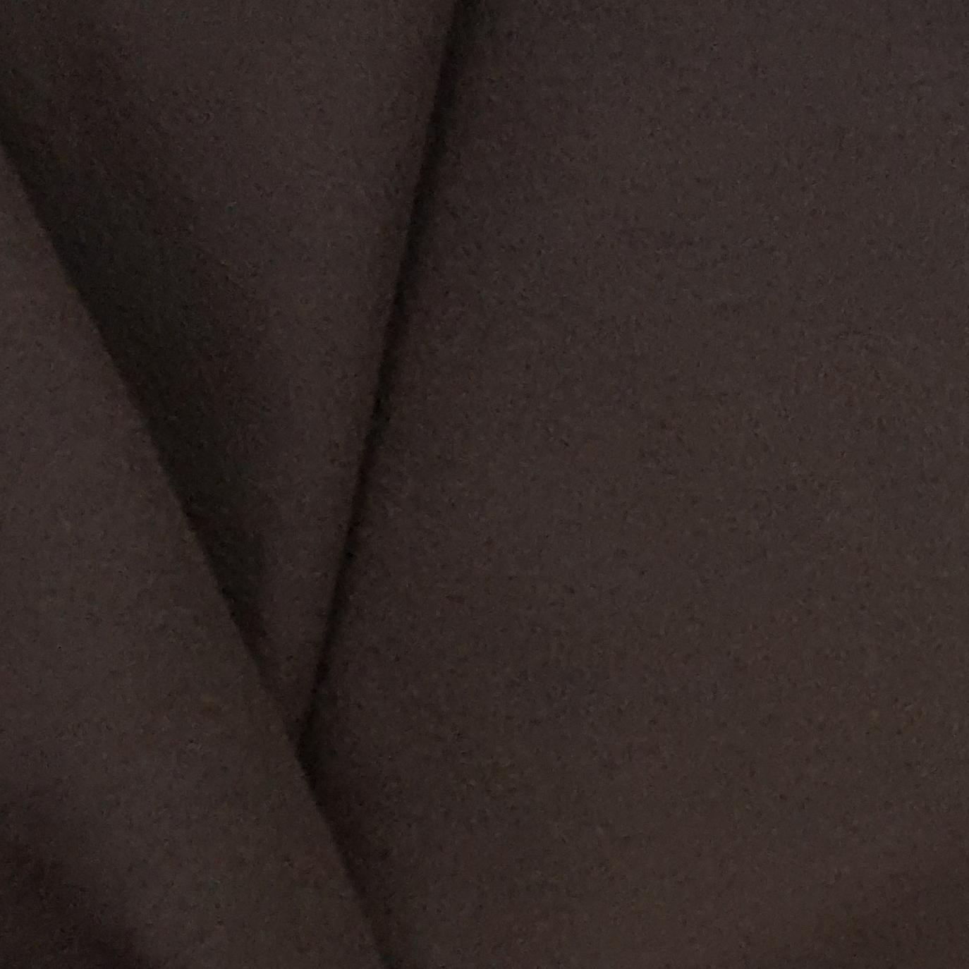 Tissu Polaire Unie Marron