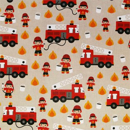 Camion Pompier aspect lin