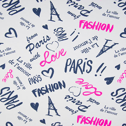 Jersey Imprimé Fashion Paris