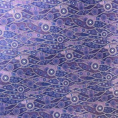 Tissu coton imprimé vague lagon
