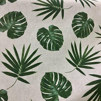 Tissu aspect lin feuilles agrandi