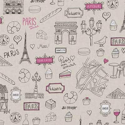 Tissu aspect lin glamour Paris