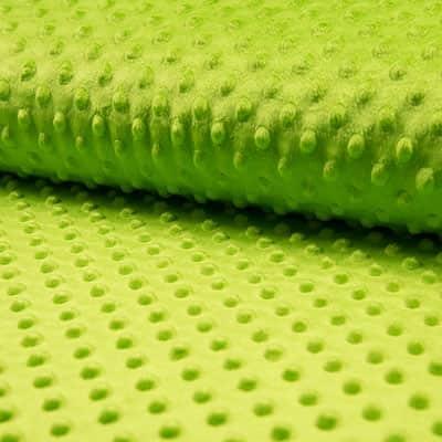 Tissu Minkee Vert Kiwi