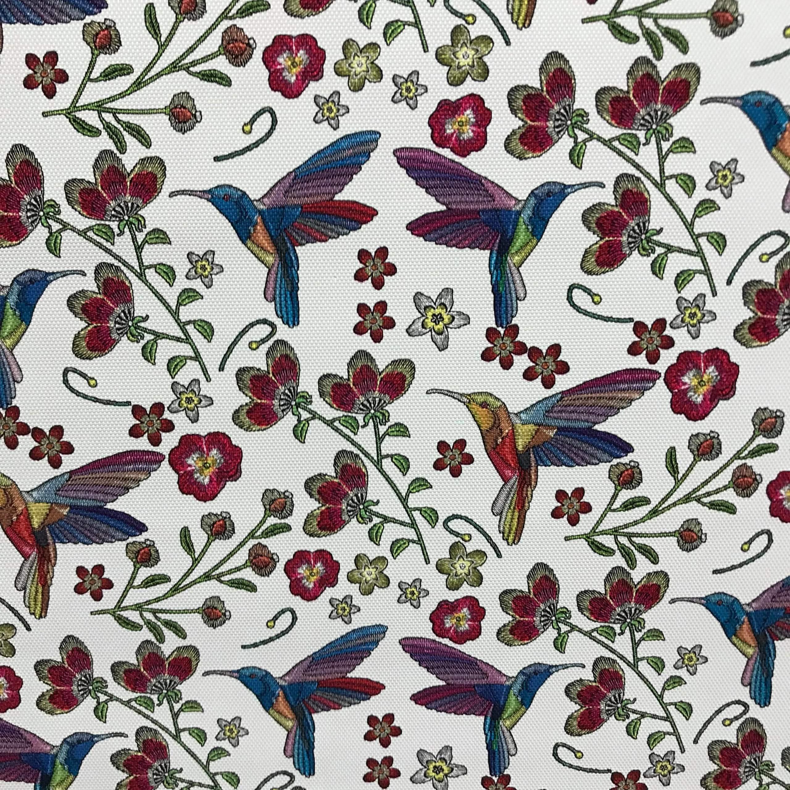 Simili Cuir colibri blanc