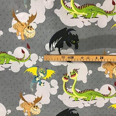Tissu Dragon mesure