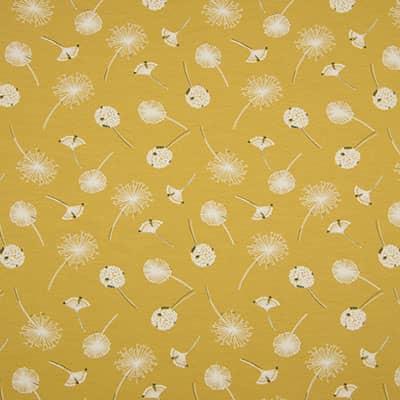 Tissu jersey imprimé pollen moutarde