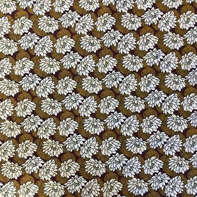 Tissu coton imprimé nénuphar