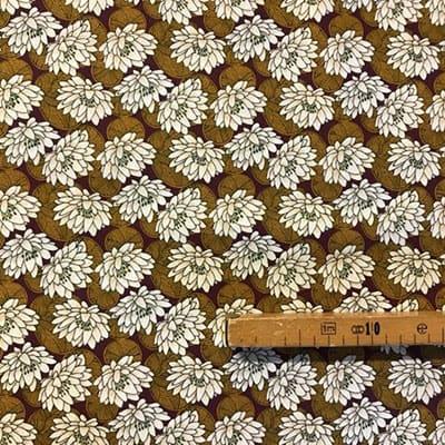 Tissu coton imprimé nénuphar mètre
