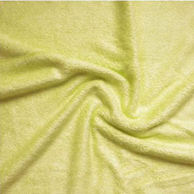 Tissu éponge bambou vert