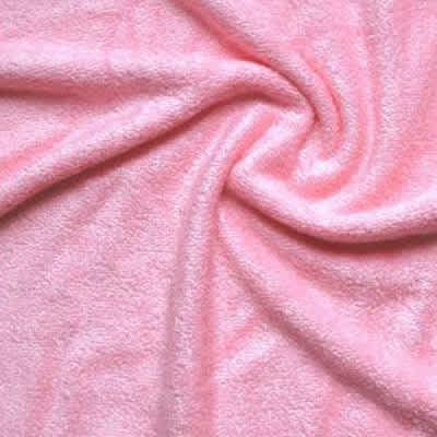 Tissu éponge bambou rose