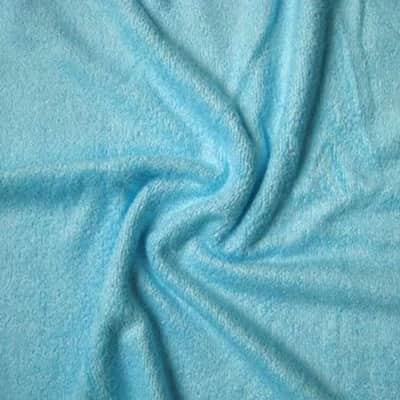 Tissu éponge bambou bleue