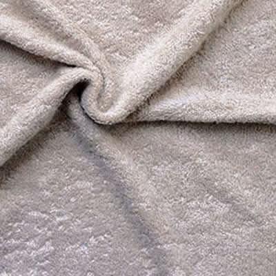 Tissu éponge bambou taupe
