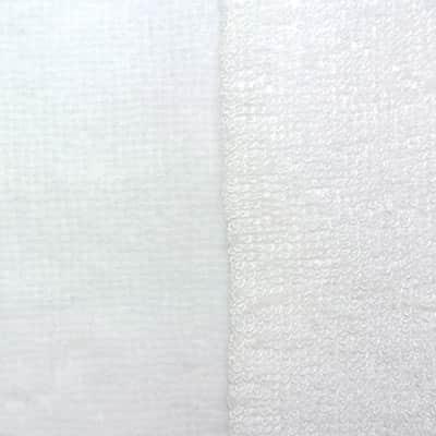 Éponge bambou double face blanc