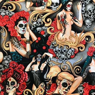 Tissu Las Elegantes flamboyant