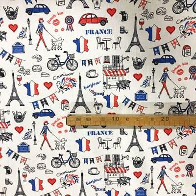Tissu coton imprimé France mètre