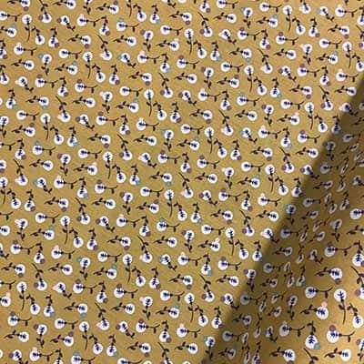 Tissu coton imprimé isis moutarde