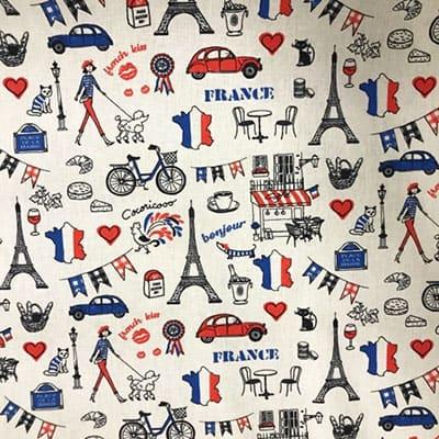 Tissu coton imprimé France
