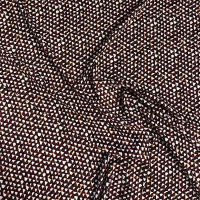 Tissu jersey imprimé crispy bordeaux froissé