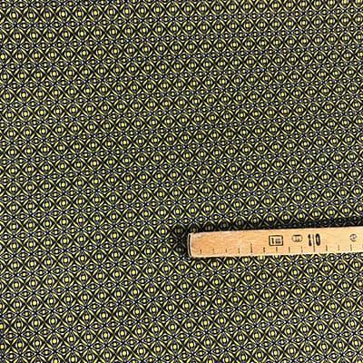 Tissu jersey imprimé éthique jaune mètre