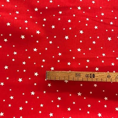 Tissu coton imprimé étoile rouge mètre