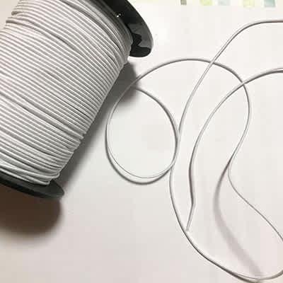 Élastique rond blanc 2 millimètres