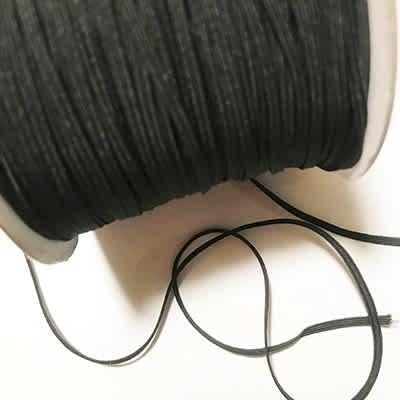Élastique plat noir 5 millimètres