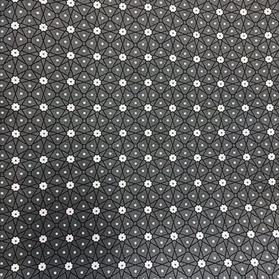 Tissu coton imprimé géométrique gris