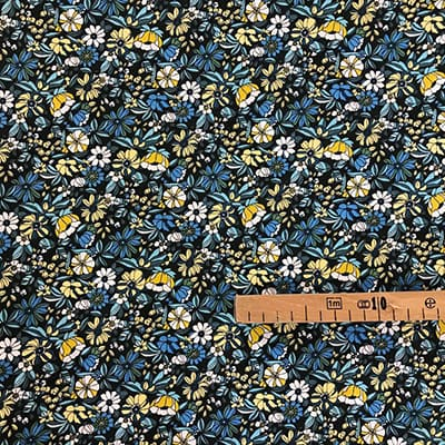 Tissu coton imprimé mini fleurs mètre