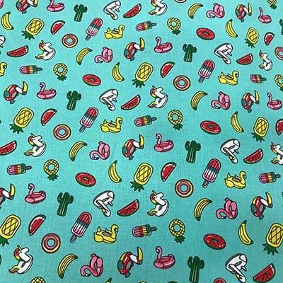 Tissu coton imprimé bouée