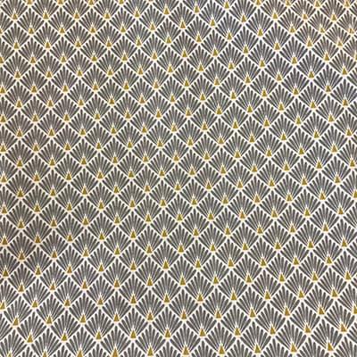 Tissu coton imprimé écaille gris