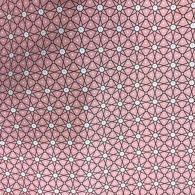 Tissu coton imprimé géométrique rose