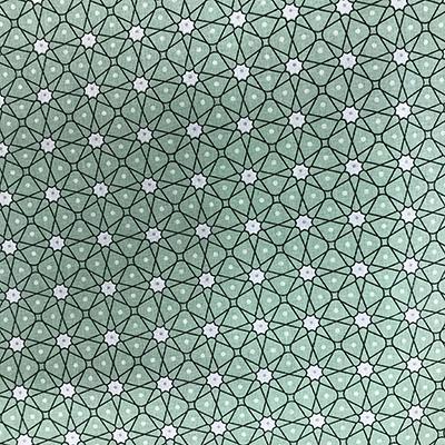 Tissu coton imprimé géométrique vert