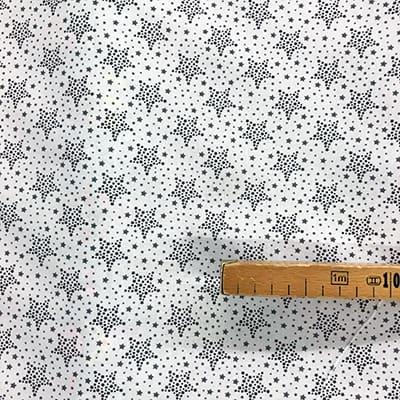 Tissu coton imprimé étoile noir