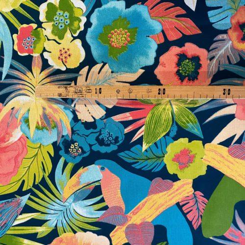 Tissu coton imprimé flore mètre