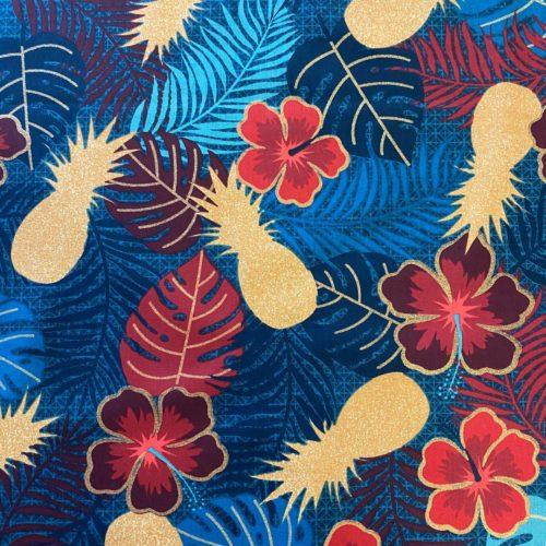 Tissu coton imprimé maltaya navy