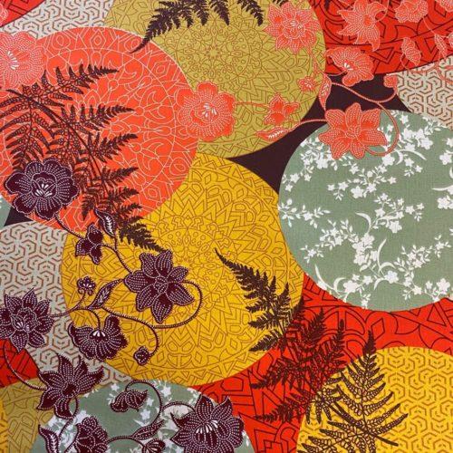 Tissu coton imprimé japonisant