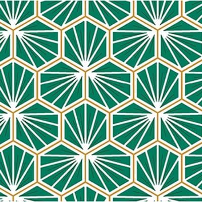 Tissu coton imprimé trèfle vert