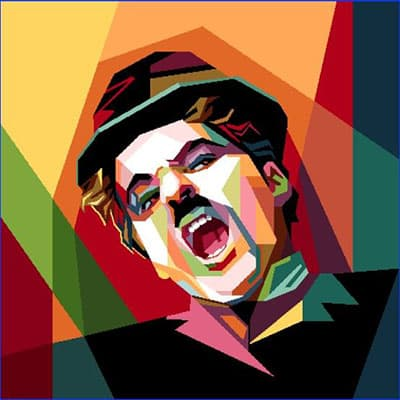 Carré de tissu Charlie Chaplin