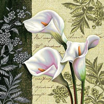 Carré de tissu fleurs