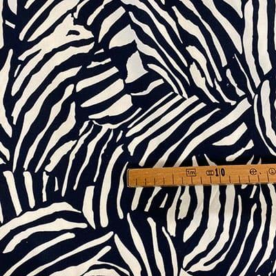 Tissu jersey imprimé zebro mètre