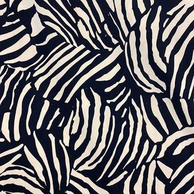 Tissu jersey imprimé zebro