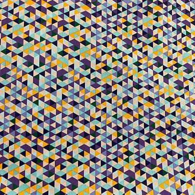 Tissu coton imprimé triangle