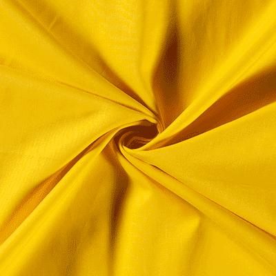 Tissu Coton Uni bleu jaune