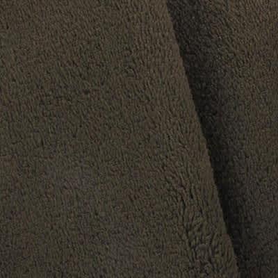 Tissu doudou marron