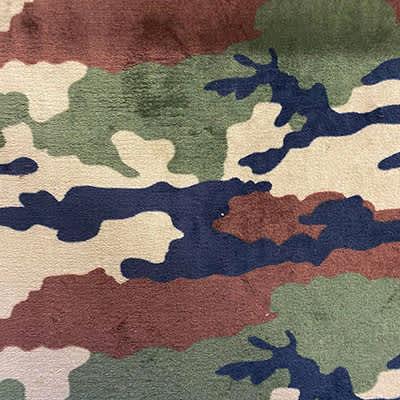 Tissu doudou militaire