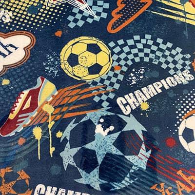 Tissu doudou football