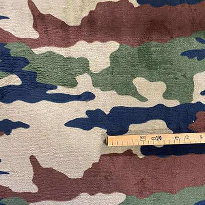 Tissu doudou militaire mètre