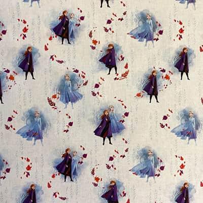 Tissu Disney Reine des Neiges Bleu