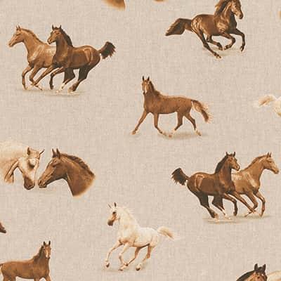 Tissu aspect lin cheval