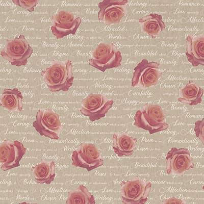 Tissu aspect lin rose